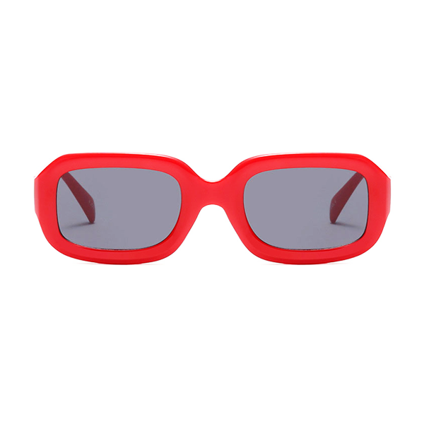 The Long Rectangle Sunglasses Red - Youthly Labs