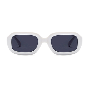 The Long Rectangle Sunglasses White - Youthly Labs