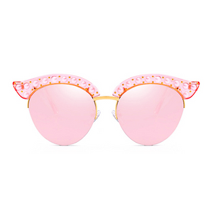 The Luxury Kitty Pearls Sunglasses Pink - Youthly Labs