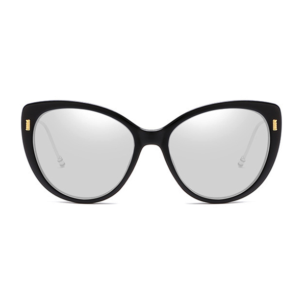 The Proper Kitty Sunglasses Silver Black - Youthly Labs