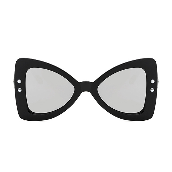 The Punk Butterfly Sunglasses Silver Black - Youthly Labs