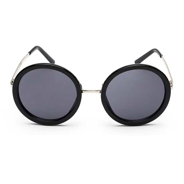 The Pure Round Sunglasses Black - Youthly Labs