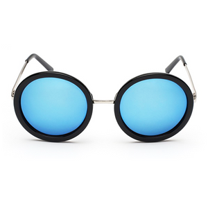 The Pure Round Sunglasses Blue - Youthly Labs