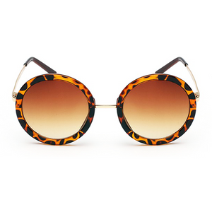 The Pure Round Sunglasses Leopard - Youthly Labs
