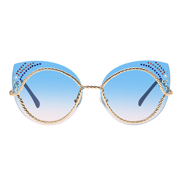 The Rainbow Dots Sunglasses Blue - Youthly Labs