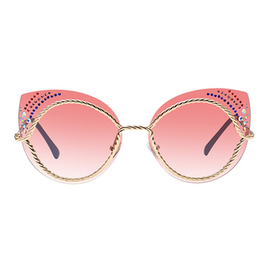 The Rainbow Dots Sunglasses Pink - Youthly Labs