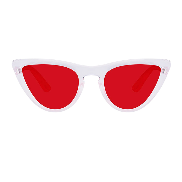 The Kitty Bridge Sunglasses Clear Red - Youthly Labs