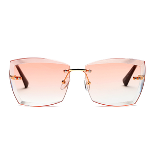 The Rimless Clarity Sunglasses Pink - Youthly Labs