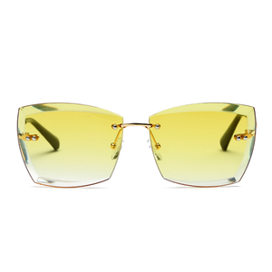 The Rimless Clarity Sunglasses Yellow - Youthly Labs