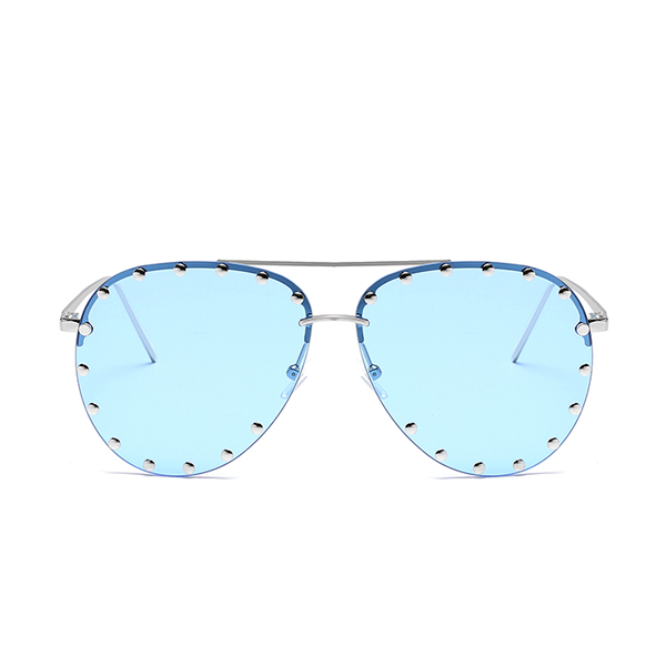 The Riveted Aviator Sunglasses Blue - Youthly Labs