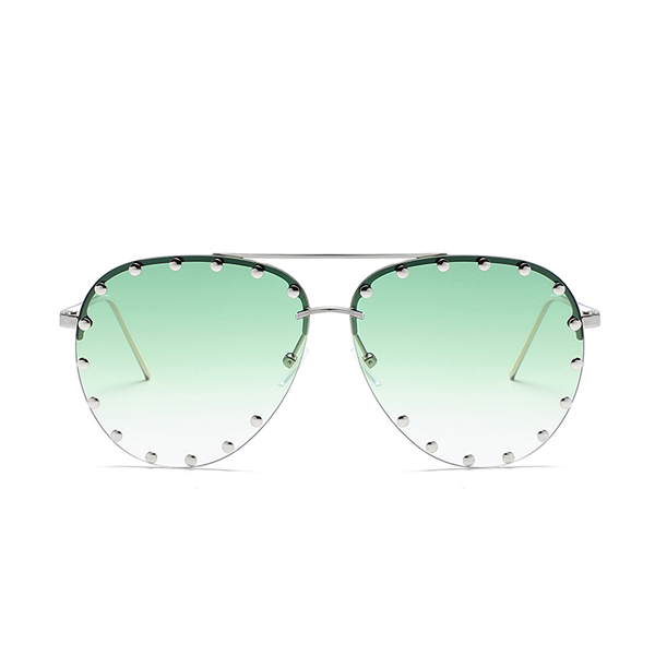 The Riveted Aviator Sunglasses Green - Youthly Labs