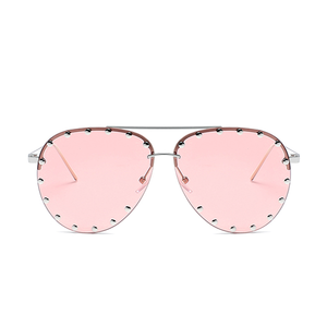 The Riveted Aviator Sunglasses Pink - Youthly Labs