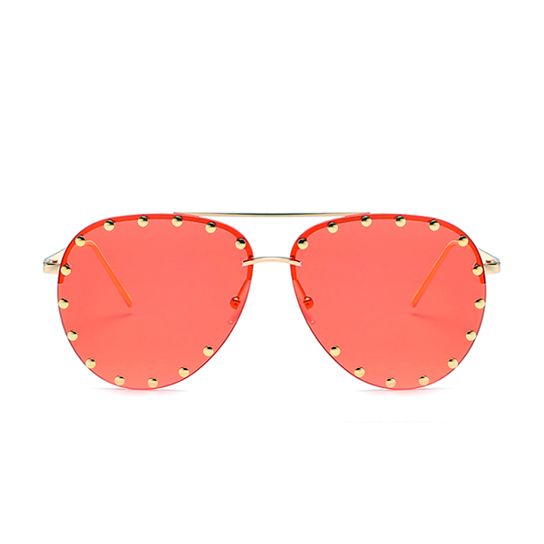 The Riveted Aviator Sunglasses Red - Youthly Labs