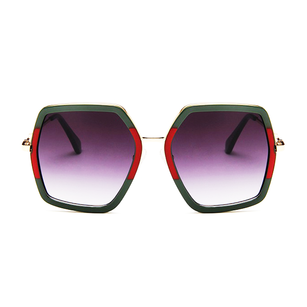 The Screen Siren Sunglasses Red Green - Youthly Labs