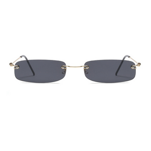 The Skinny Rectangle Sunglasses Dark Gray - Youthly Labs