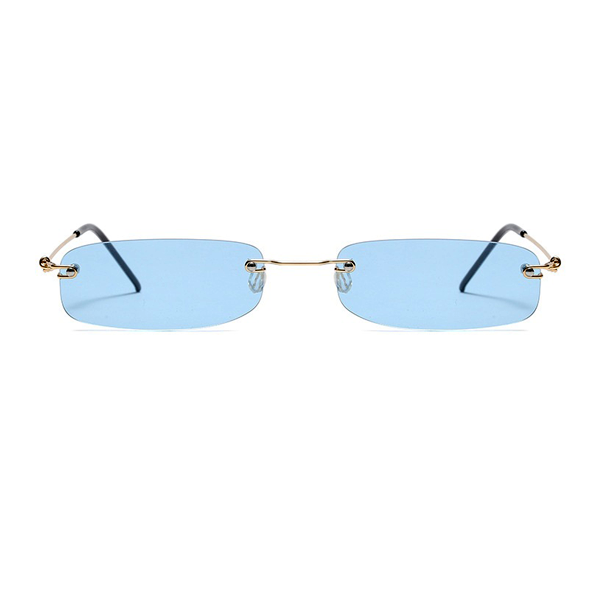 The Skinny Rectangle Sunglasses Blue - Youthly Labs