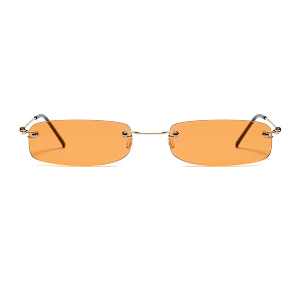 The Skinny Rectangle Sunglasses Orange