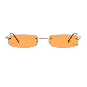 The Skinny Rectangle Sunglasses Orange - Youthly Labs