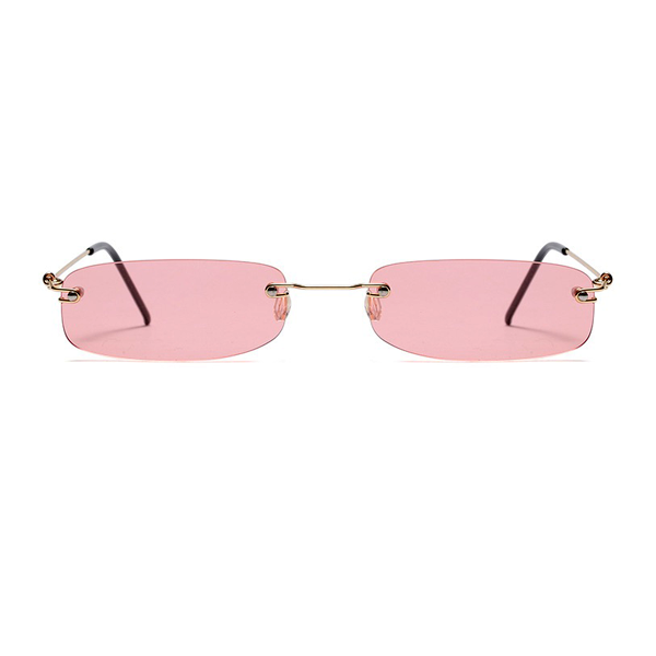 The Skinny Rectangle Sunglasses Pink - Youthly Labs