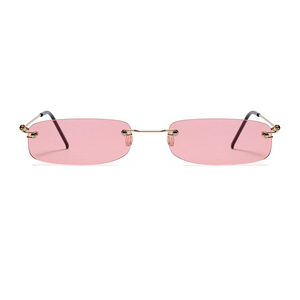 The Skinny Rectangle Sunglasses Pink