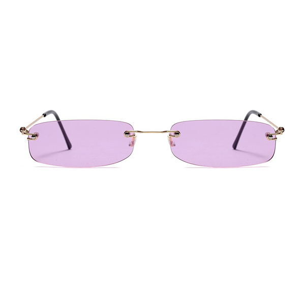 The Skinny Rectangle Sunglasses Purple - Youthly Labs