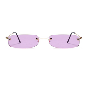 The Skinny Rectangle Sunglasses Purple