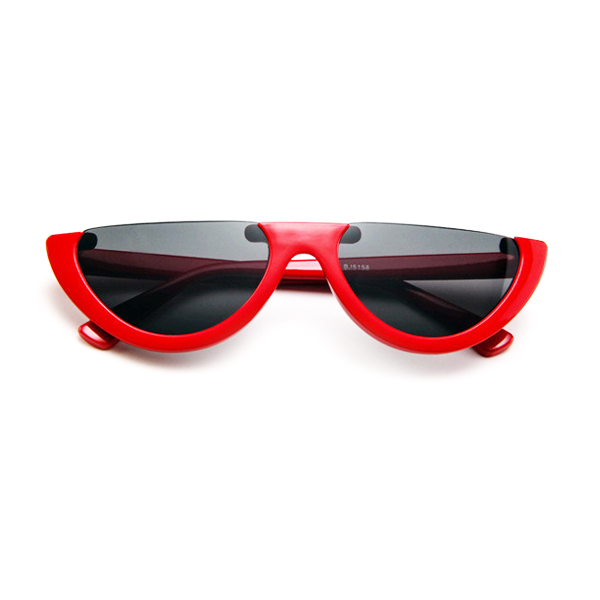The Sleepy Kitty Sunglasses Red - Youthly Labs