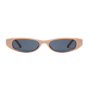 The Small Oval Sunglasses Beige