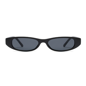 The Small Oval Sunglasses Black