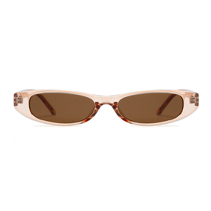 The Small Oval Sunglasses Clear Brown