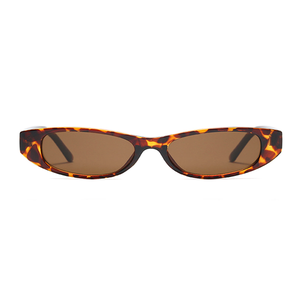 The Small Oval Sunglasses Leopard