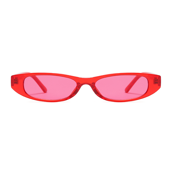The Small Oval Sunglasses Red