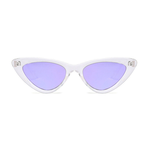 The Smooth Kitty Sunglasses Clear Purple - Youthly Labs