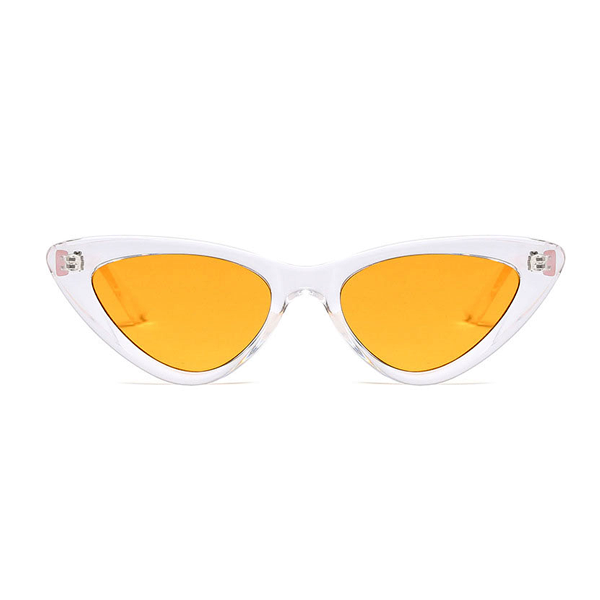 The Smooth Kitty Sunglasses Clear Yellow