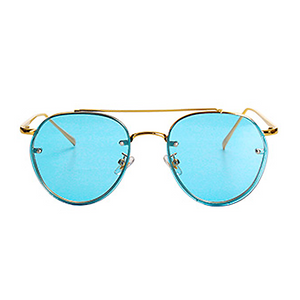 The Sophisticated Aviator Sunglasses Blue - Youthly Labs