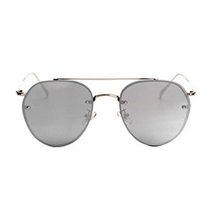 The Sophisticated Aviator Sunglasses Silver - Youthly Labs