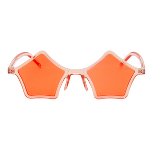 The Standout Stars Sunglasses Clear Orange - Youthly Labs