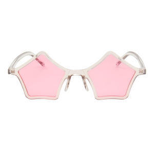 The Standout Stars Sunglasses Clear Pink - Youthly Labs
