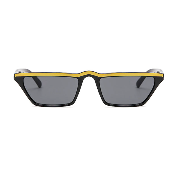 The Single Stripe Sunglasses Black Yellow - Youthly Labs