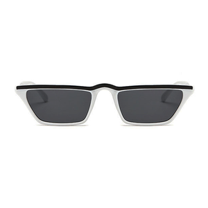 The Single Stripe Sunglasses White Black - Youthly Labs