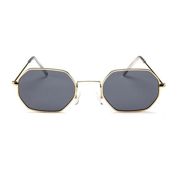 The Tiny Metallic Octagon Sunglasses Black - Youthly Labs