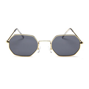 Tiny Metallic Octagon Sunglasses Charlie Frederick Love Island