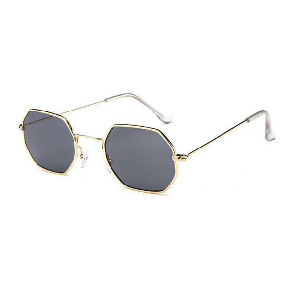 bd7ee183185 Tiny Metallic Octagon Sunglasses Charlie Frederick Love Island