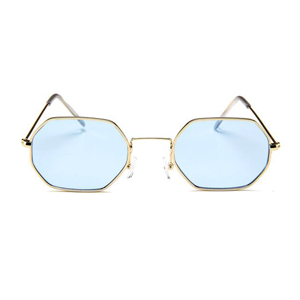 bfcb2f373458 The Tiny Metallic Octagon Sunglasses Blue - Youthly Labs