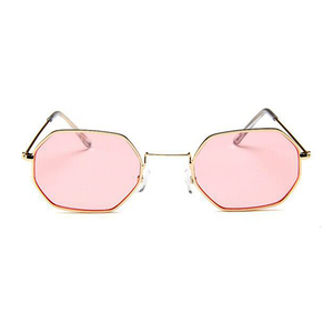 The Tiny Metallic Octagon Sunglasses Pink - Youthly Labs