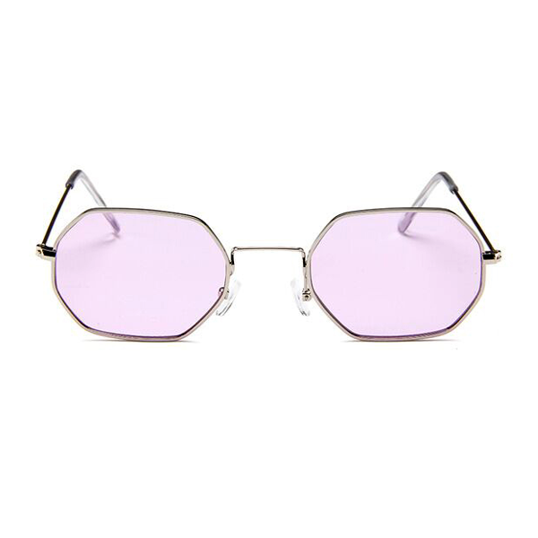 The Tiny Metallic Octagon Sunglasses Purple - Youthly Labs