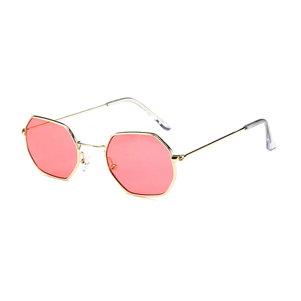 ea73dc34e2aa The Tiny Metallic Octagon Sunglasses Red - Youthly Labs