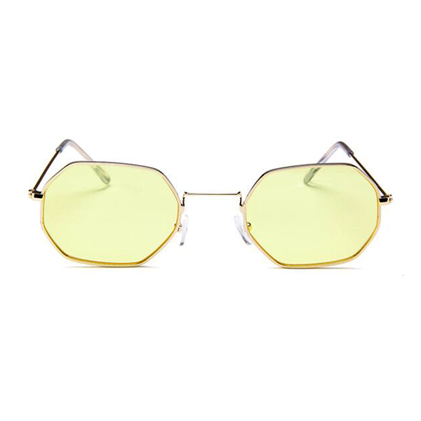 376b274508 The Tiny Metallic Octagon Sunglasses Yellow - Youthly Labs