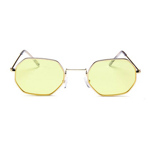 The Tiny Metallic Octagon Sunglasses Yellow - Youthly Labs