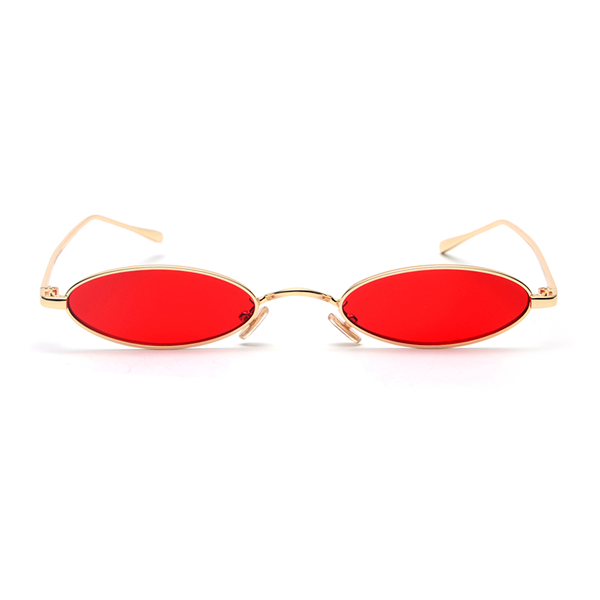 The Tiny Oval Sunglasses Red